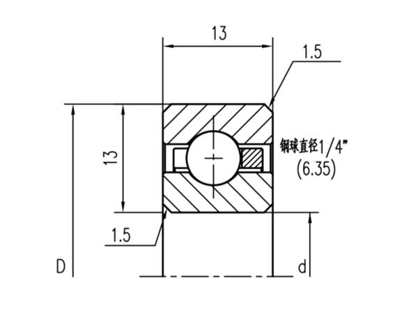 公制深沟球轴承(厚度13mm)