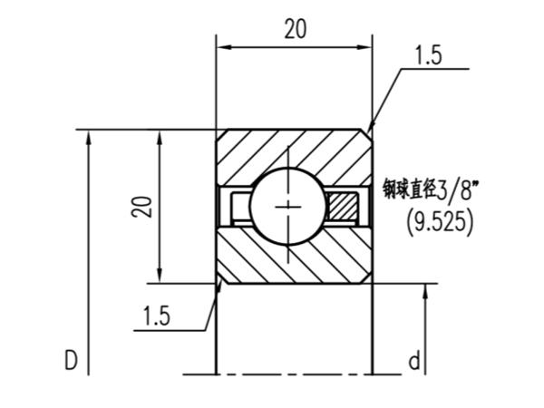 公制深沟球轴承(厚度20mm)