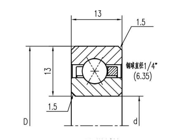 公制四点接触球轴承(厚度13mm)